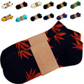 Men's Socks Weed Socks For Men Women Cotton Short Fashion Male 3D Sock