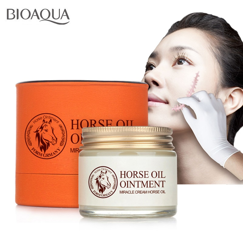 BIOAQUA  Horse Oil Cream Moisturizing Anti Aging Cream Scar Face Body Whitening Cream Skin Care Ageless Products Korea Cosmetics
