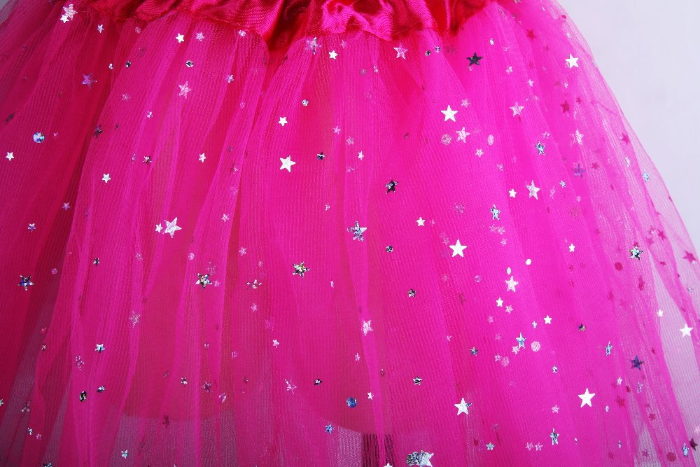 Kids-Girl-Star-Glitter-Dance-Tutu-Skirt-Sequin-With-3-Layers-Tulle-Tutu-Toddler-Girl-Chiffon-Pettiskrit-2