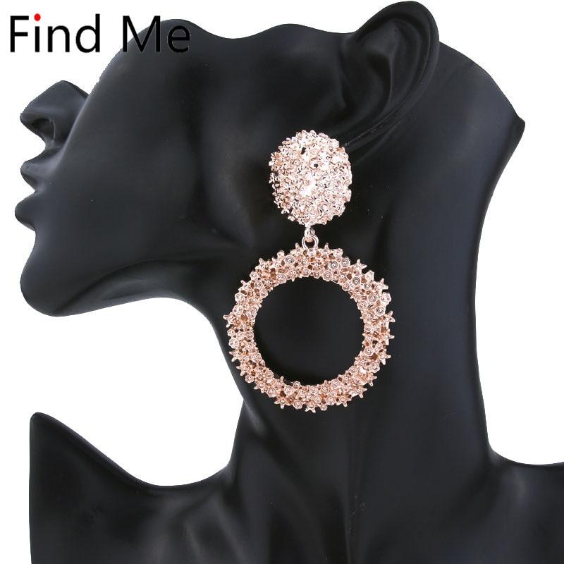 525ca38ac Find Me 2019 brand Fashion multilayer long tassels Drop Earrings for Women  Jewelry geometric circle Dangle