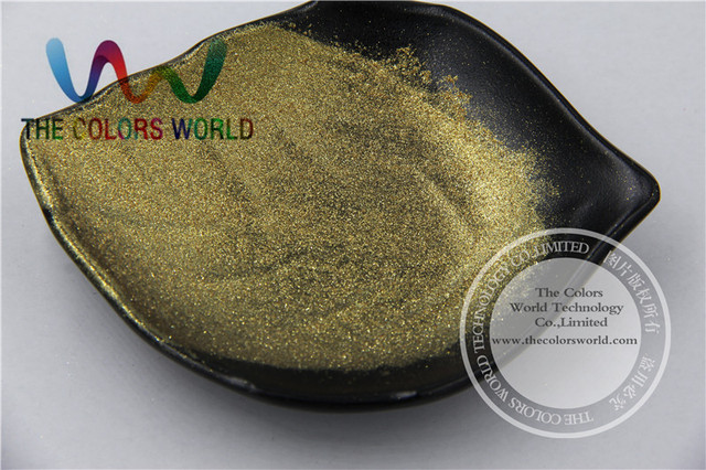 TCWZ675  Very Shinning Dark Gold color   Pigment Powder  for nail Art , gel  nail polish or other DIY decoration