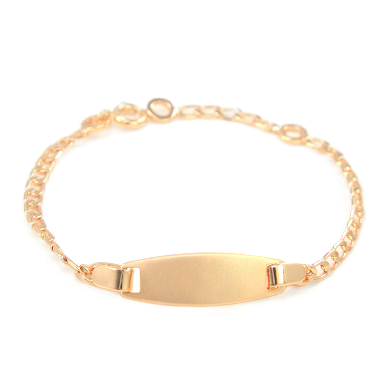 Us 38 35 Off17cm Gold Baby Armbänder Bebe Pulsera Kinder Schmuck Taufe Infant Jungen Mädchen Pulseira Bracelete Baby Armband Bilezik B0127 In