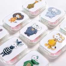fashion animal lens box high quality contact case DIY color Eye cute lenses with mirror