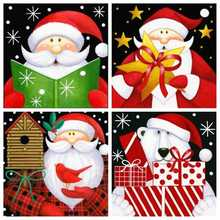 AZQSD Diamond Mosaic Santa 5d Painting Full Drill Square Cartoon Hobbies And Crafts Christmas Art Gift