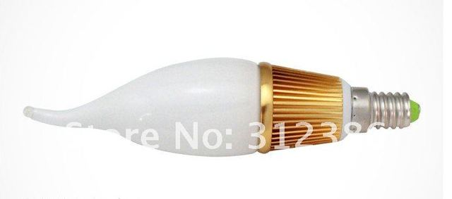 free shipping facotry price High lumens 3X2W epistar led candle bulb e14 6w e14 bulb 600lm  candle lamp ce flame light
