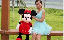 big lovely plush mickey mouse toy new red girl minne doll birthday gift about 100cm