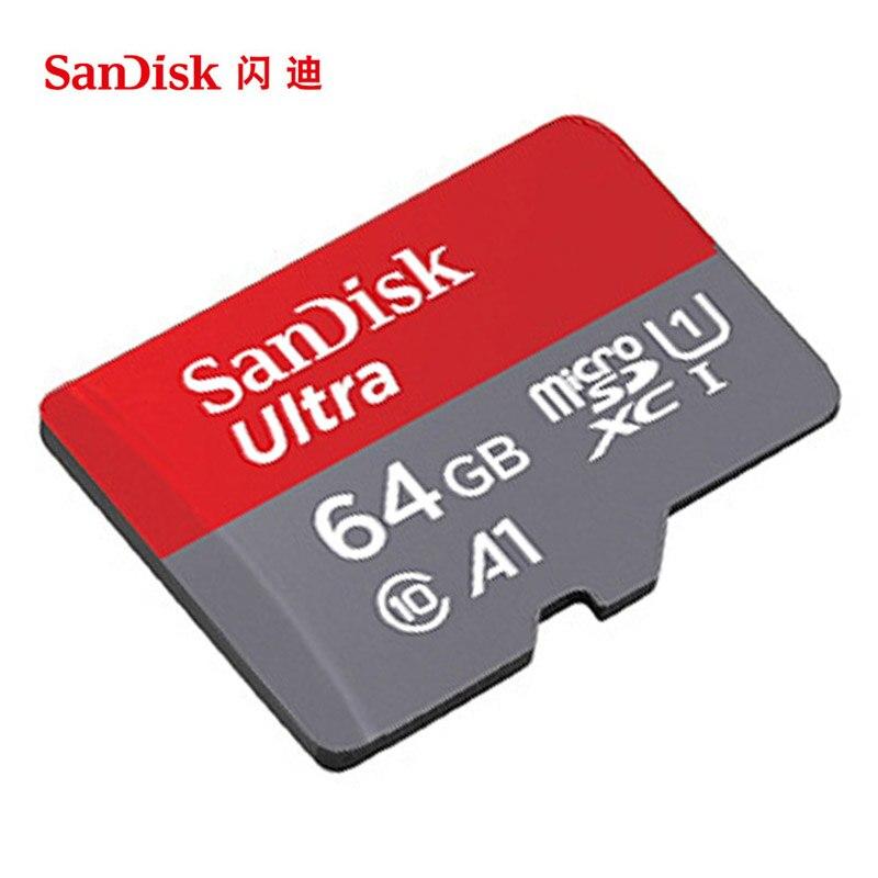 100% Оригинал SanDisk Micro SD Card Reader 64 ГБ 16 ГБ 32 ГБ 128 ГБ 256 ГБ U1 U3 4 К Class 10 карт памяти microsd флэш-карты памяти