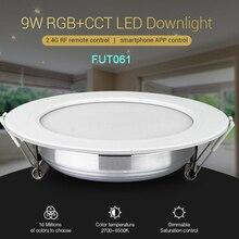 MiBOXER FUT061 9W RGB+CCT LED Downlight Dimmable Ceiling Spotlight AC110V 220V B8/FUT089/FUT092 2.4G Remote Control