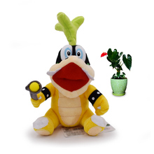 Anime Super Mario Bros Koopalings Iggy Hop Peluche Doll Plush Soft Stuffed Baby Toy Great Christmas Gift For Children
