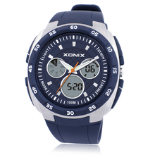 XONIX Top Brand Watch Luxury Men 100M Relogio Masculino LED Digital Diving Swimming Reloj Hombre Sports Stainless Steel Watches