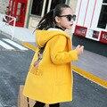Новая Зимняя Куртка Для Девочек Толщиной С Капюшоном Детей Пальто Cocuk Мон Детская Одежда 6CCT 044