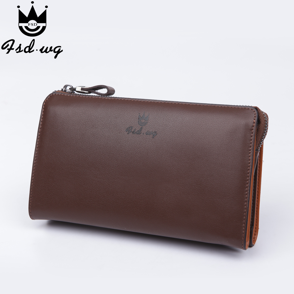 New men wallets leather genuine long r designer mens wallets famous brand men wallet clutch bag purses and handbags Monederos
