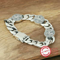 S925 sterling silver men's bracelets personality fashion jewelry handmade retro arrogance eagles shape 2018 New Gift for Lovers