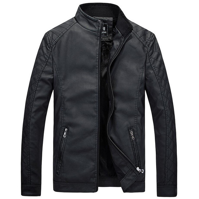 Новый Мотоцикл Кожаные Куртки Мужчины Осень Зима Кожаная Одежда Мужчины Кожаные Куртки Мужской деловой случай Пальто Бренд одежды