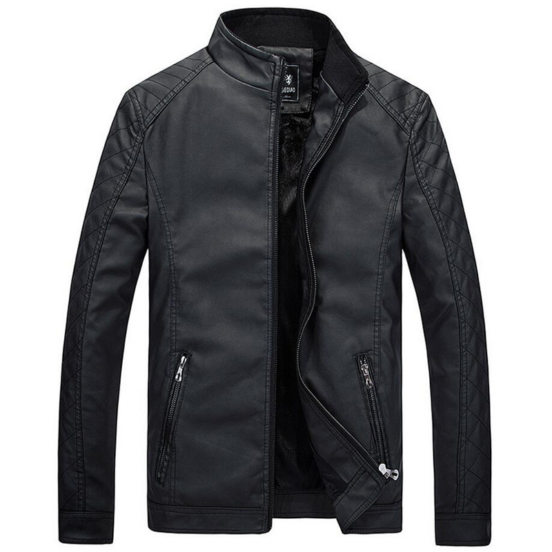 New Motorcycle Leather Jackets Men Autumn Winter Leather Clothing Men Leather Jackets Male Business casual Coats Brand clothing