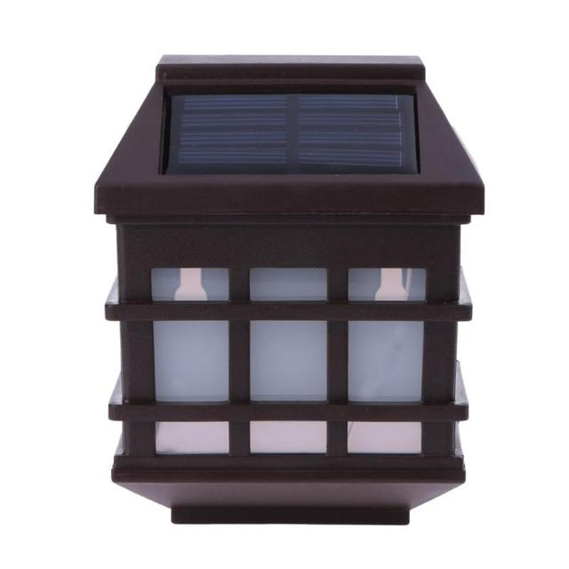 2pcs led solar light waterproof outdoor solar fence light pathway 2pcs led solar light waterproof outdoor solar fence light pathway porch garden lights solar wall light aloadofball Choice Image