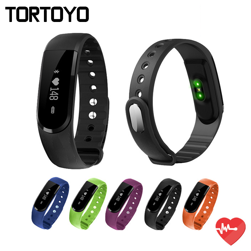ID101 Bluetooth Smart Bracelet Heart Rate Monitor Smartband Pulse Sports Fitness Activity Tracker Wristband Band For
