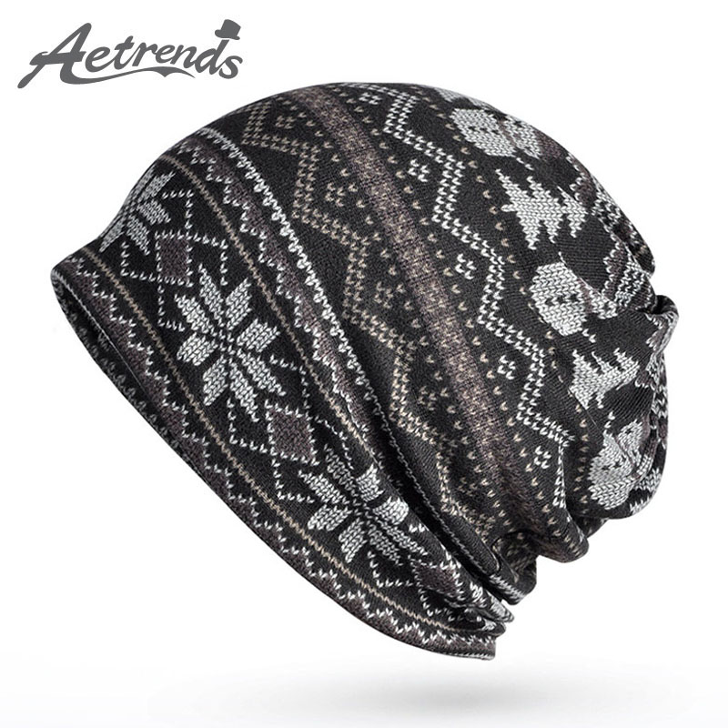 [AETRENDS] 2017 Hip-Hop Knitted Caps Warm Beanie Hats for Men Women Slouch Skullies Bonnet Beanies Z-5089 [jamont] love skullies women bandanas hip hop slouch beanie hats soft stretch beanies q3353