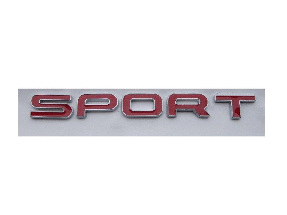 Rouge SPORT De Voiture Arrière Tronc Lettres Badge Emblème Emblèmes Badges Autocollant De Décalque pour Land Rover Discovery Range Rover