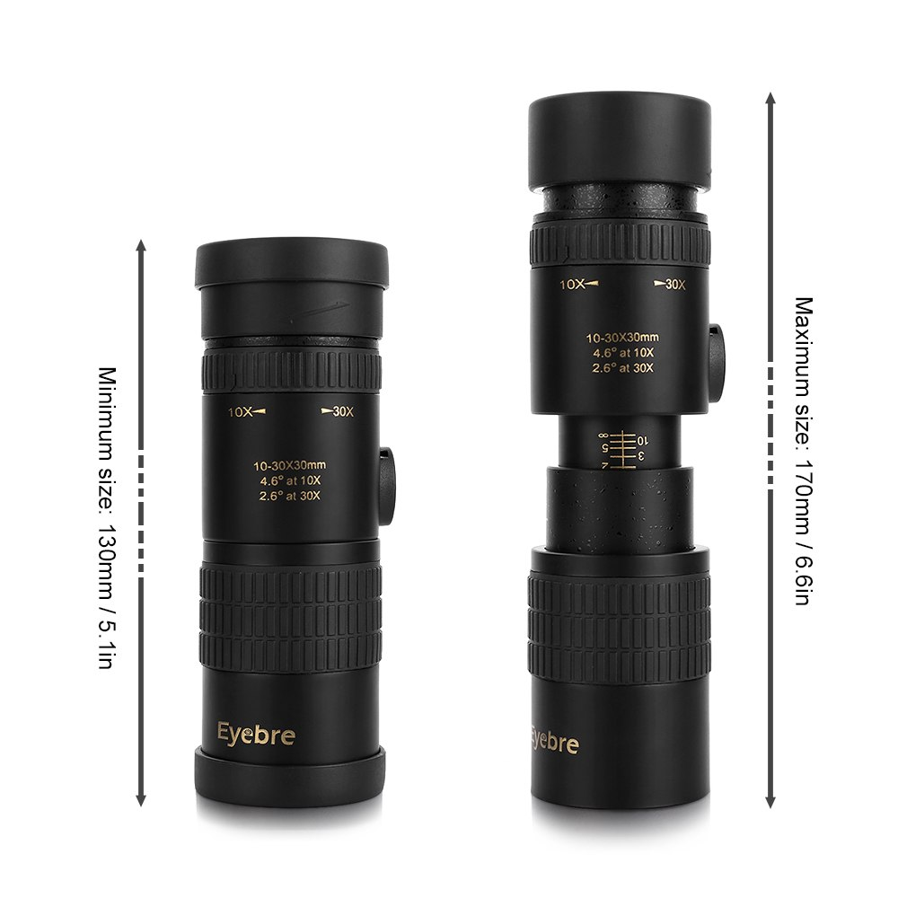 10 30x30 Zoomable Monocular Telescope pocket Binoculars Hunting Spotting Scope for Outdoor Bird Watching Camping Hunting Concert in Monocular Binoculars from Sports Entertainment