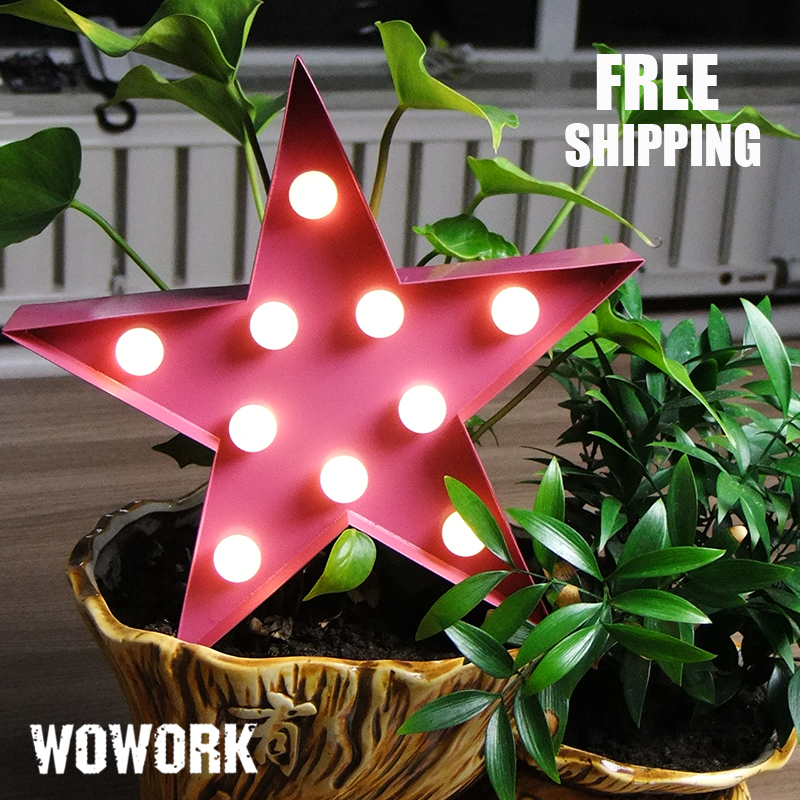 led christmas letter led star light 3d battery operated lights for christmas decoration vintage marquee lights indoor bedroom in holiday lighting from