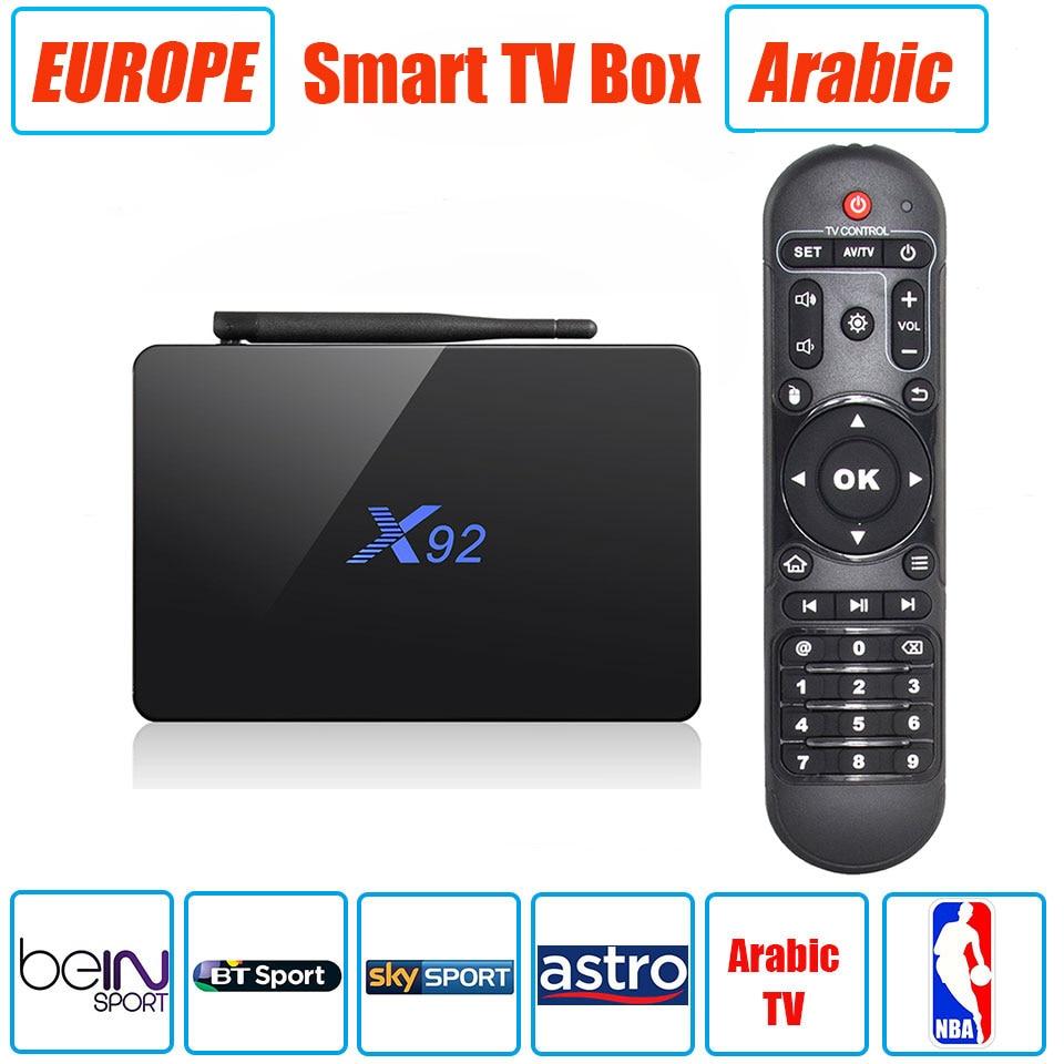 ФОТО X92 2G/16G S912 Octa Core Android 6.0 Smart TV Box AP6255 Band Wifi Set Top Box Bluetooth 4.0 Media Player Multi TV Channels