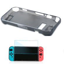 For Nintend Switch NS 2 in 1 kit Anti-Scratch Silicone Crystal Back Protective Full-Body Case Cover+HD Screen Filter Film