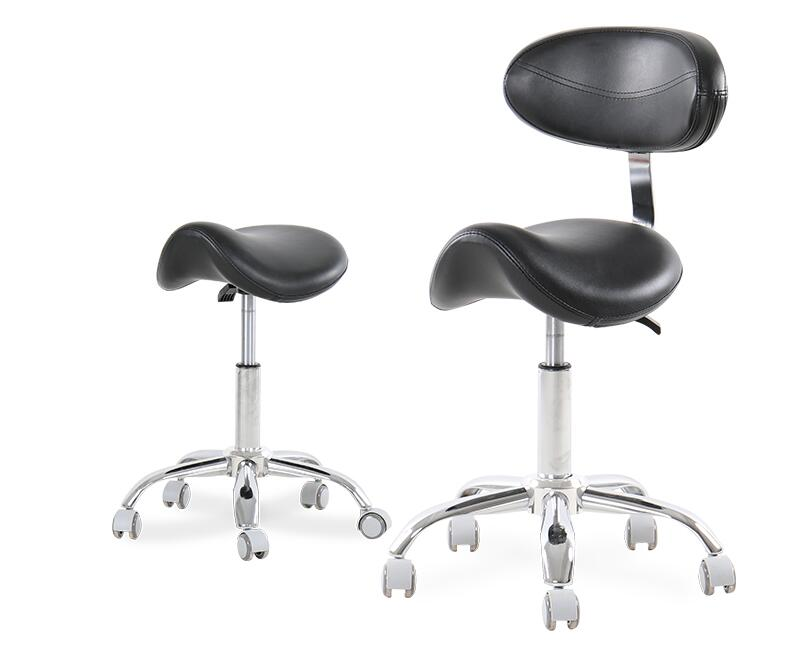 Dental Mobile Chair Ophthalmic Saddle Chair Doctor's Stool PU Leather Dentist Chair Saddle Stool Rolling Ergonomic Swivel Chair