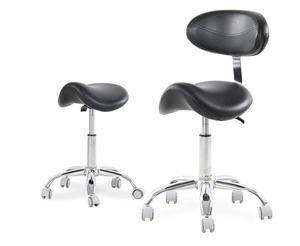 Silla Dental móvil silla de montar oftálmica taburete de dentista de cuero PU taburete con sillín silla giratoria ergonómica