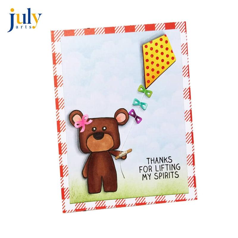 Julyarts Kite Cutting Dies Metal Card Stencils Voor DIY Scrapbooking Kite Knife Mould Spring Dies Scrapbooking in Cutting Dies from Home Garden