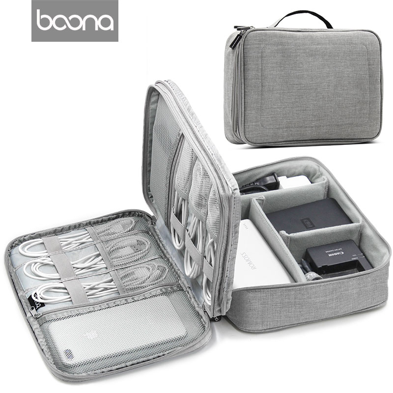 Boona Travel Accessories Bag Portable Electronic Accessories Travel case,Cable Organizer Bag Gear Carry Bag for Cables,USB FlashBoona Travel Accessories Bag Portable Electronic Accessories Travel case,Cable Organizer Bag Gear Carry Bag for Cables,USB Flash