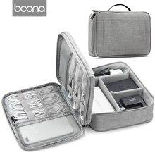 Boona дорожные аксессуары сумка Переносные электронные аксессуары дорожный Чехол, Кабельный органайзер сумка для переноски для кабелей, USB вспышка