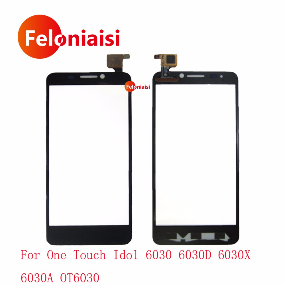 4.7 Pour Alcatel One Touch Idol 6030 6030D 6030X 6030A OT6030 Écran Tactile Digitizer Capteur Avant Lentille En Verre Panneau + de suivi