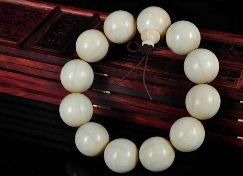 Bracelet à breloques en bois naturel pour hommes, bracelet extensible, cadeau de bijoux 20mm