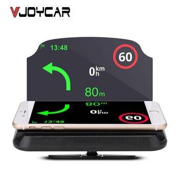 Auto Hud Supporto per Telefono Universale Head Up Display Tachimetro Auto di Vetro Velocità Supporto Del Proiettore Senza Fili Braccialetto di Navigazione Del Telefono