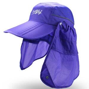 Image 2 - Marka szerokie rondo letnie słońce oddychająca ochrona przed promieniowaniem uv daszki kapelusz typu bucket ochrony przeciwsłonecznej rybak czapka wędkarska odpinany składana czapka
