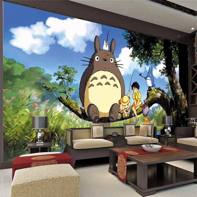 Aliexpress.com : Buy Cute Japanese Anime Totoro Wall Mural Silk Wallpaper  Custom Large Photo Wallpaper Art Room Decor Kidu0027s Room Ceiling Bedroom From  ... Part 68