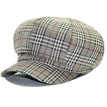 Mujeres Plaid Octagonal sombreros 2018 otoño nuevo clásico casquillos  Gorras Houndstooth boinas Cap calle de la moda Vintage Cap. 14af88efaca7