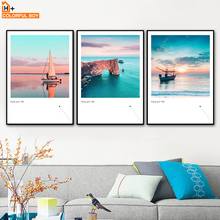 Sea Sailboat Bridge Seascape Wall Art Print Canvas Painting Nordic Posters And Prints Pictures For Living Room Home Decor
