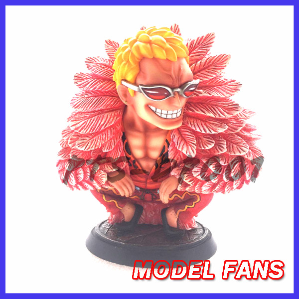 MODEL FANS IN-STOCK one piece 10cm sd version Donquixote Doflamingo gk resin statue figure for collection model fans instock one piece 18cm donquixote doflamingo vs trafalgar law gk resin toy figure for collection