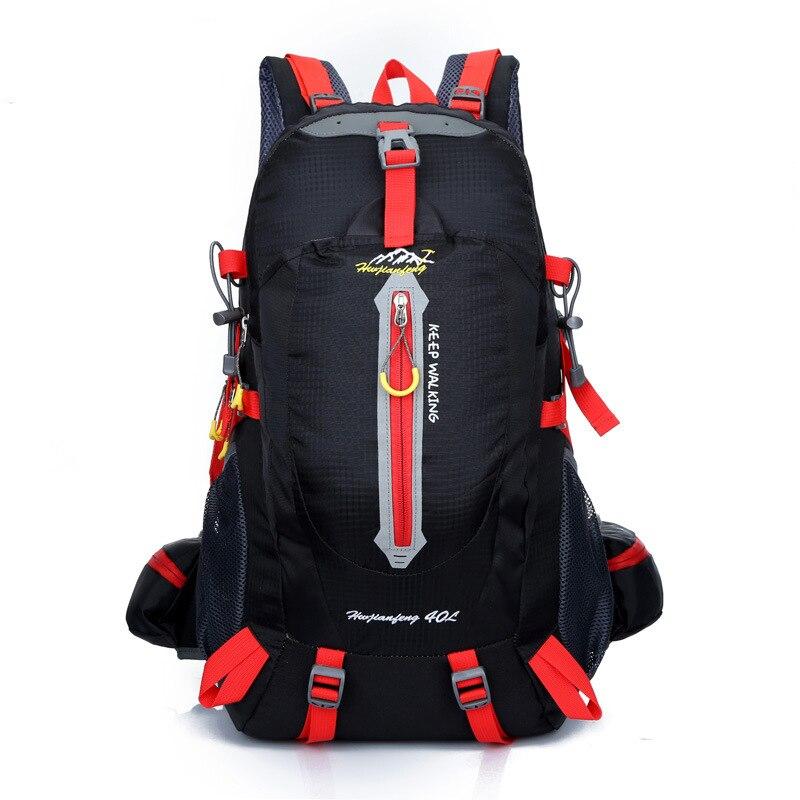 купить NEW Men Outdoor Waterproof Nylon Mountaineering Backpack Women Sport Bags Hiking Climbing Shoulder Bags Rucksack 40L недорого