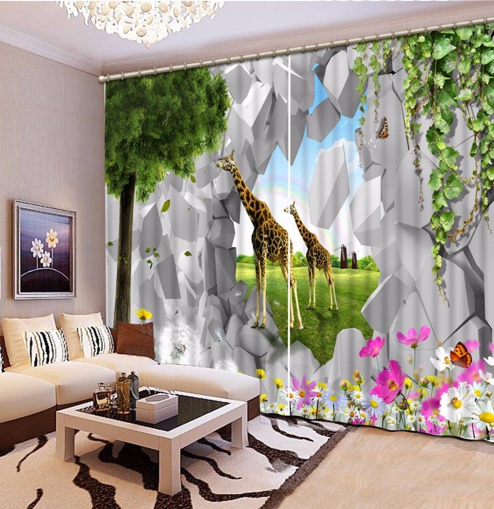 Online Cheap Giraffe Curtains
