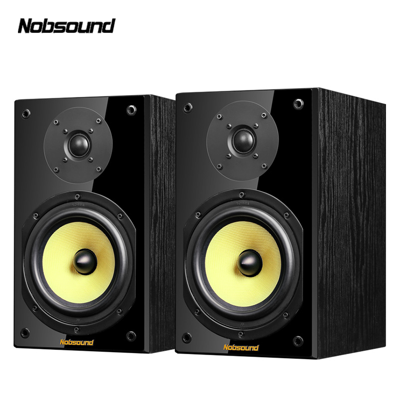 Nobsound NS 2000 Two Way Wood 100W 1 Pair 6 5 inches Bookshelf Speakers 2 0 HiFi Column Sound Home Professional speaker in Bookshelf Speakers from Consumer Electronics