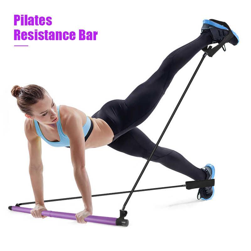 estiramiento ccymx barra de ejercicio con banda de resistencia para el pie para yoga Kit de resistencia para pilates y pilates sentarse y entrenar el cuerpo esculpir torsi/ón