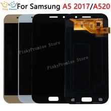 """5.2 """"لسامسونج غالاكسي A5 2017 LCD A520 A520F SM A520F عرض مجموعة المحولات الرقمية لشاشة تعمل بلمس قطع غيار سامسونج A520 LCD"""
