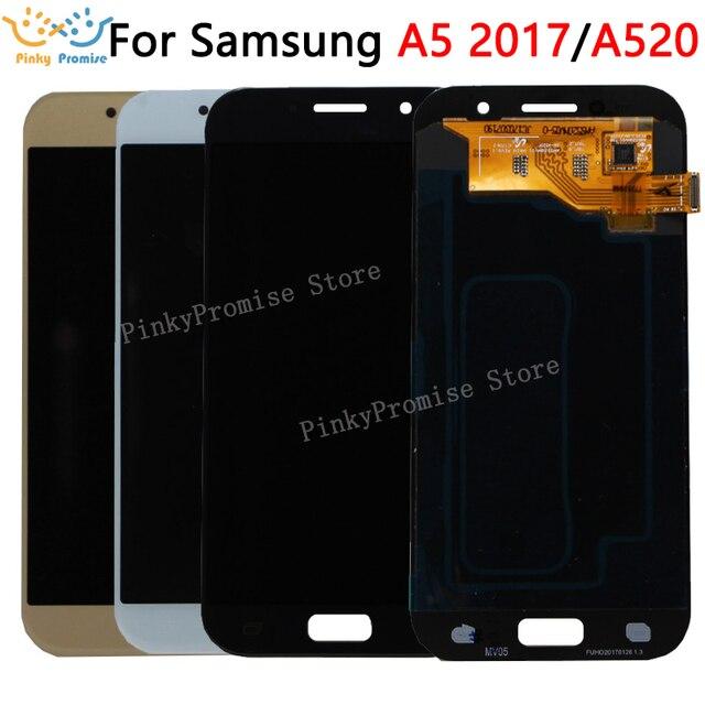 "5.2 ""SAMSUNG GALAXY A5 2017 LCD A520 A520F SM A520F Ekran dokunmatik ekranlı sayısallaştırıcı grup SAMSUNG için yedek A520 LCD"