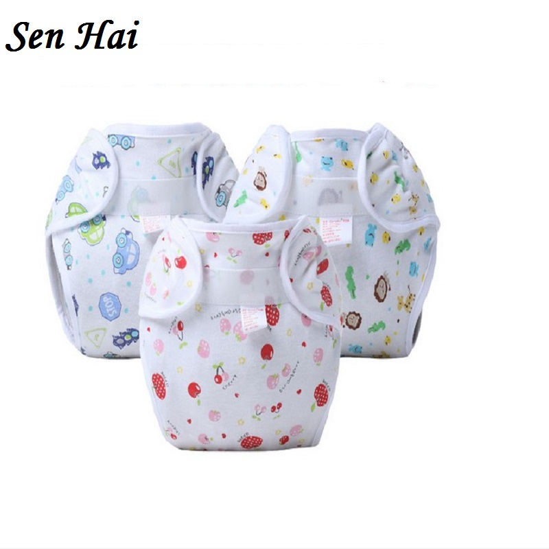 Baby-Baumwollwindeln für den Sommer Keine auslaufsichere Babywindel waschbar wiederverwendbare Windelhülle ohne wasserdichte Schicht NB029