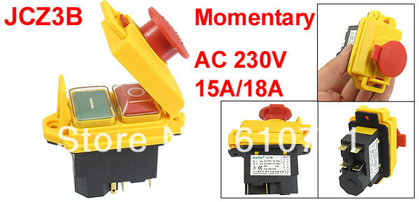 все цены на 1PCS JCZ3B Waterproof Botton 5-Pin SPST Momentary Waterproof Electromagnetic Switch 230VAC 15A/18A онлайн