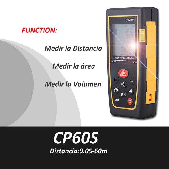 ФОТО Trena Medidor Metro Distancia Laser,0.5-60m, Medidor volumen laser,medidor area laser, Cinta Metrica, laser range finder, CP60s