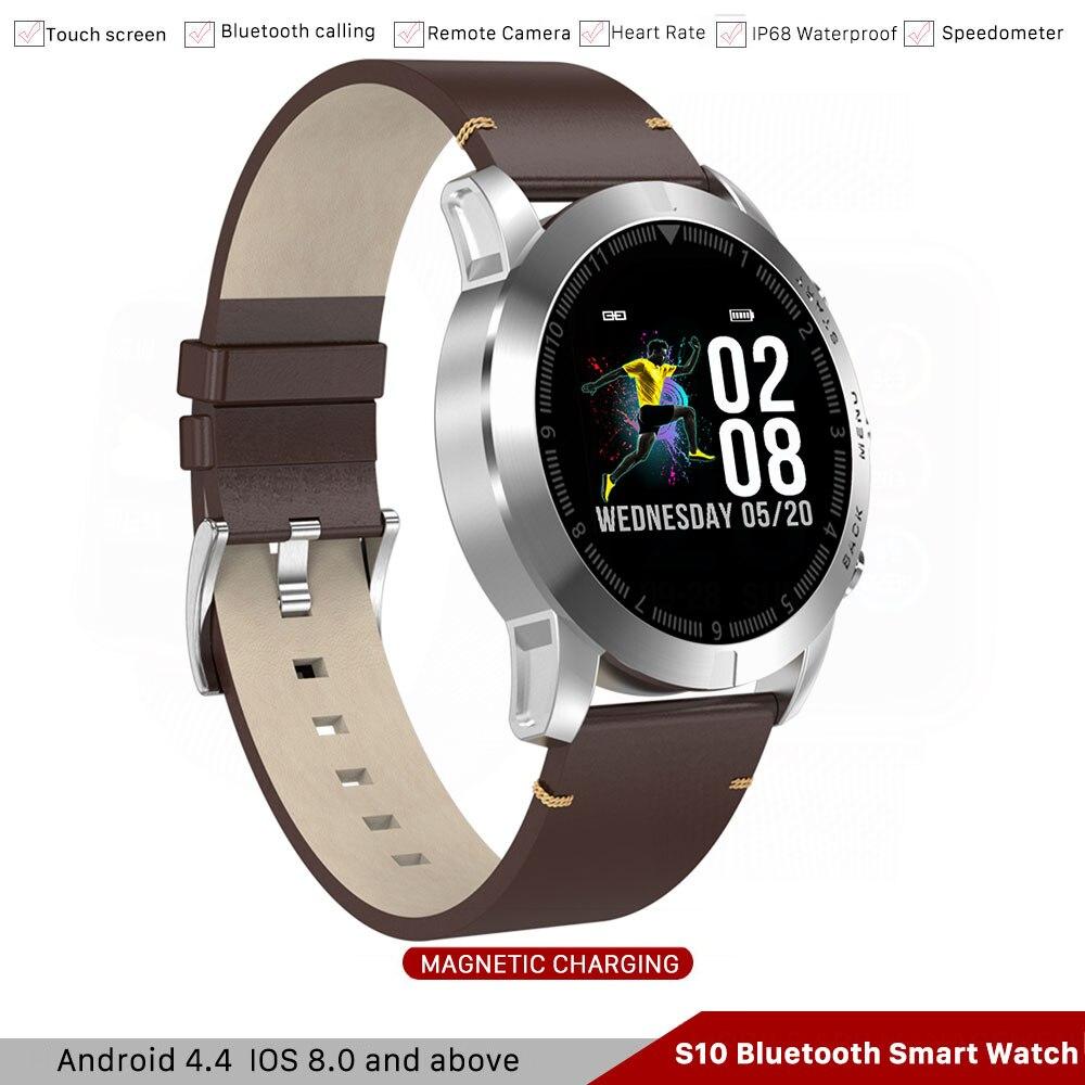 S10 montre intelligente homme IP68 1.3 ''HD affichage rappel fréquence cardiaque boussole Sport Smartwatch pour Ios Iphone huawei xiaomi samsung téléphone